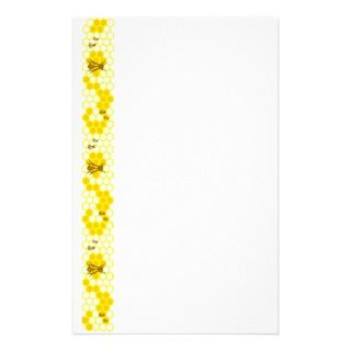 Honey Bee Yellow Honeycomb Stationery