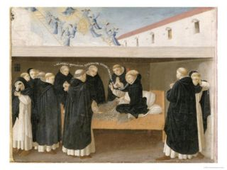 The Death of St. Dominic, from the Predella Panel of the Coronation of the Virgin, c.1430 32 Giclee Print by Fra Angelico