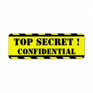 top secret   confidential labels