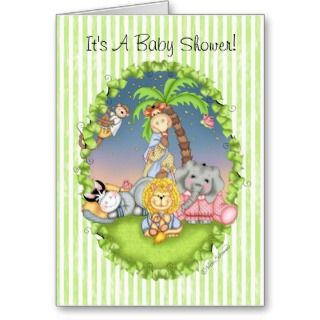 BaZooples Baby Shower Invitation Cards