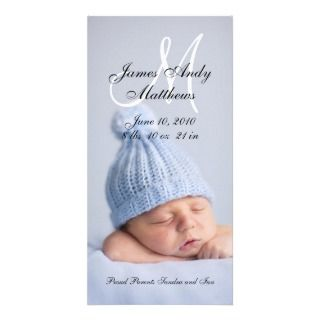 new baby boy birth announcement photo card design by elke clarke 2010