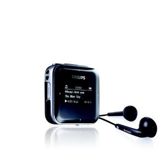 Philips SA 2820 Tragbarer MP3 Player 2 GB USB 2.0 OLED Display schwarz