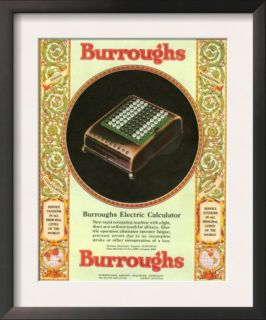 Equipment Burroughs, Adding Machines, Accountants, USA, 1920 Prints