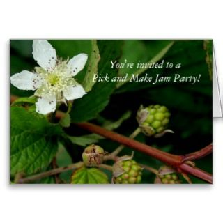 Jam making party invitation Greetingcard