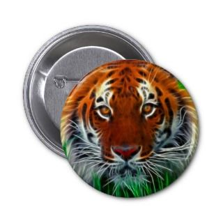 Rare Sumatran Tiger Indonesia Pinback Button