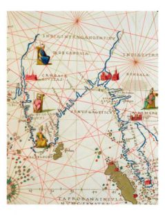 India and Malaysia, from an Atlas of the World in 33 Maps, Venice, 1st September 1553 Giclee Print by Battista Agnese