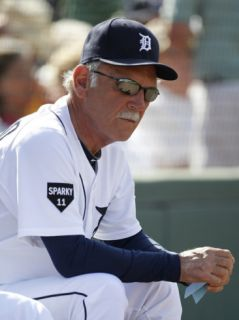 Houston Astros v Detroit Tigers, LAKELAND, FL   MARCH 02: Jim Leyland Photographic Print by Leon Halip