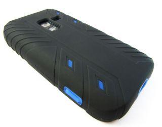 BLK BLUE IMPACT V2 HYBRID HARD CASE COVER SAMSUNG CONQUER 4G PHONE