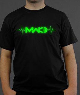 Modern Warfare 3 Logo T Shirt UV Aktiv   schwarz COD Call of Duty MW3