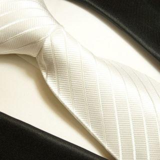 Weiße Krawatte XL 165cm extra lange Seidenkrawatte 691