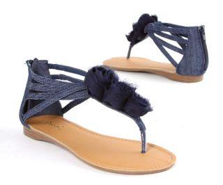 Leatherette Flat Sandals Womens Shoes 2012 Fashion Ankle Strap Zipper