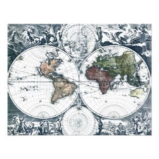 Vintage 1658 Nicolao Visscher World Map Invitations