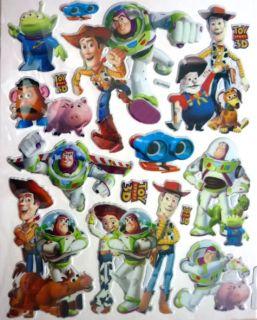 Cute Disney Princess Mickey Toy Story Cars 3D Sticker