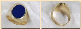 Traumhafter Herren Ring Gold 333 Lapislazuli Gr. 65