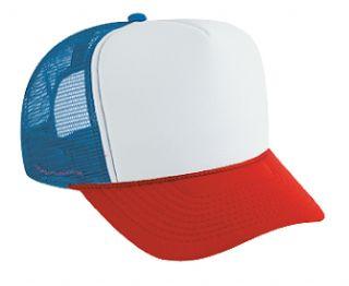 Trucker mesh cap oldskool white red royal