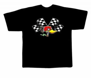 American Hot Rod Woody Woodpecker Rockabilly T SHIRT Gr.S New