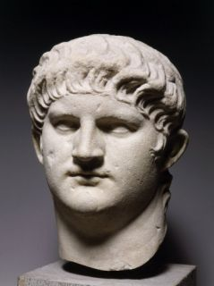 Nero, 37 68 AD, Roman Emperor, Colossal Marble Head Photographic Print