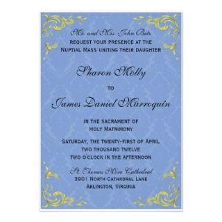 Wedding Invitations, 242 Catholic Wedding Announcements & Invites