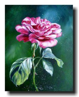 KUNST BILD LEINWAND Rose Bluete flowers ACRYL ORIGINAL rose im licht