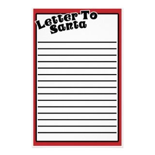 Letter to Santa unique stationary Stationery