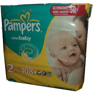 108 Pampers Windeln, New Baby, Mini, Gr.2, 3 6 Kg, mit neuer Extra