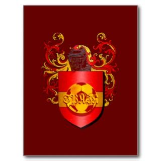 Classic Spanish Soccer Futbol coat of arms Post Cards