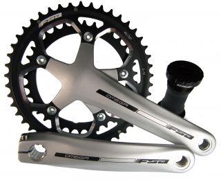 Pro Cyclo Cross Road Kurbelsatz 172.5mm + BB 46 36 Ano Silber