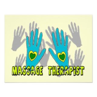 Massage Therapist Gifts Custom Announcements