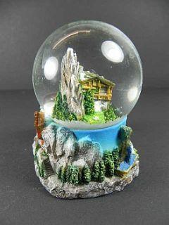 Schneekugel Souvenir Universal zum SELBSTBESCHRIFTEN,Die Alpen,Berge
