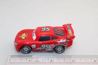 Disney Pixar Cars 2 Diecast Toy Silver Lightning McQueen Silver Logo
