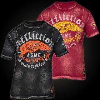 Affliction T Shirt Paul Yaffe Rot 181 R XL