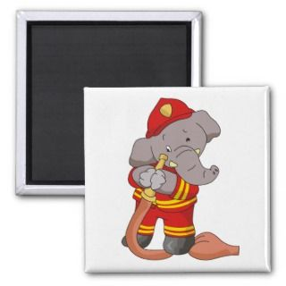 Firefighter Elephant Tshirts and Gifts Magnet
