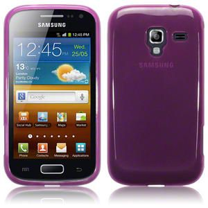 TPU Gel Case Cover for Samsung Galaxy Ace 2 i8160 Smoke Black,Pink