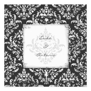 GC  Erika Vintage Damask Gray Announcement