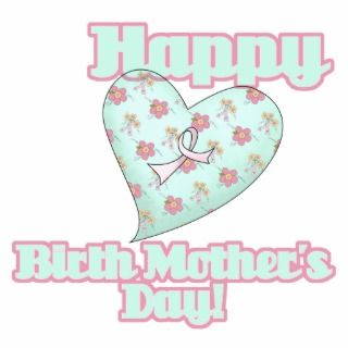 Happy Birth Mothers Day Ribbon Heart Acrylic Cut Out