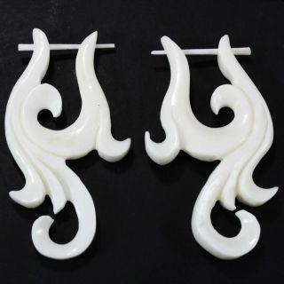 Ohrringe Earrings Horn Bone Piercing Design Schmuck ER193