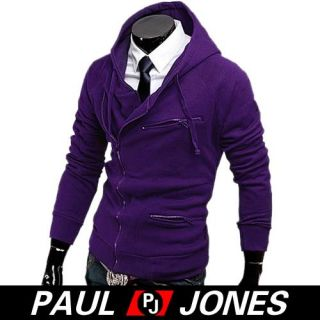 Brand New Smart Men Slim Top Designed Sexy Hoody Zip Jacket Coat