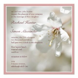 Blossom Wedding Invitiation Personalized Announcements