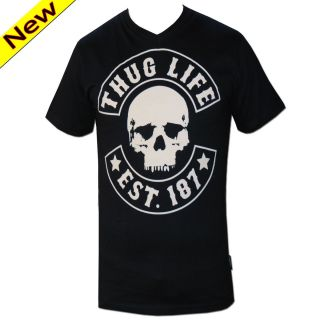 Neck T shirt S   3XL Skull Schwarz / Rot era ed celo 187