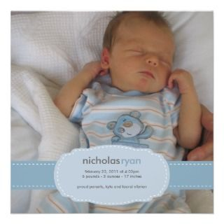 Boy Birth Invitations, 3,200+ Baby Boy Birth Announcements & Invites