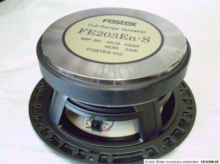 FOSTEX FE 203 EN S SONDEREDITION 20 CM FULL RANGE  PAAR