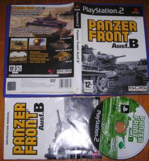 PANZER FRONT Ausf.B (Combat Tank Simulator) PS2 Playstation 2