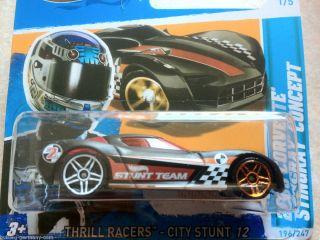 Hot Wheels 2012 #196 2009 Corvette Stingray Concept matt schwarz