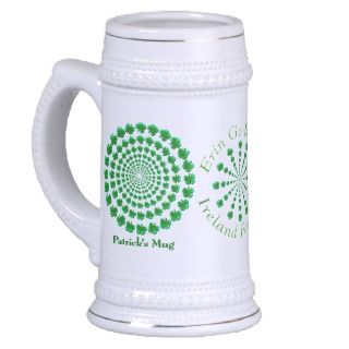 Shamrock Spin (Personalized Stein) Mugs