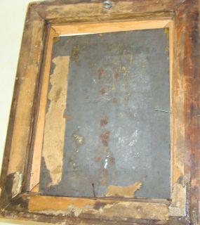 Vor der Schänke, Öl/Blech um 1850, MG 19x14 cm (193/13119)