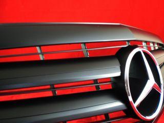 W212 Mercedes E Kühlergrill sport grill Matt Schwarz