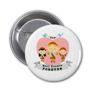 Cute Girl Scout Logo   Pin