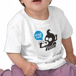 baby drink milk tee shirt