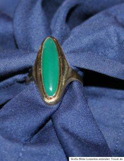 Damenring mit Chrysopras grüner Stein Ring Gold 333 / 8 ct.   Gr. 59
