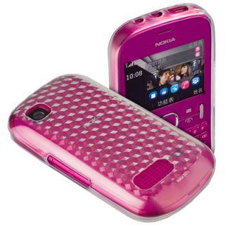 Silikon Case trsp. f Nokia Asha 201 / 200 Tasche Schutz Hülle